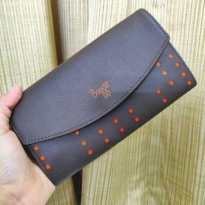 Brown clutch wallet from Baggit